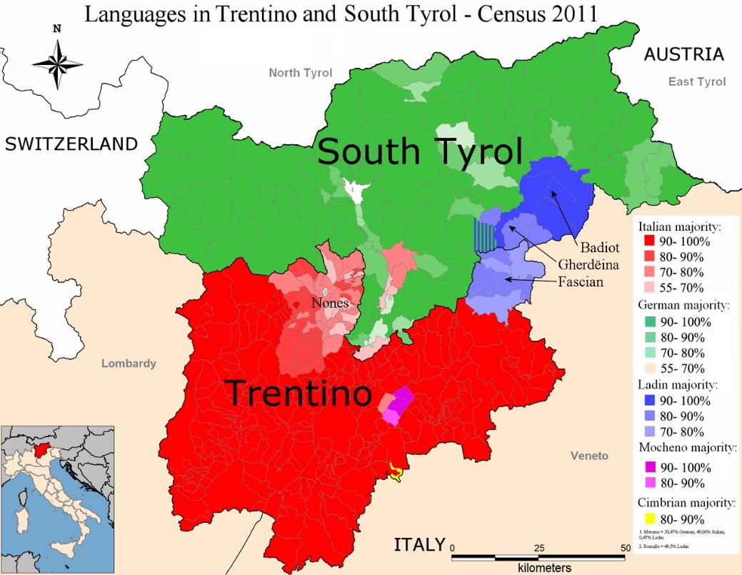 Trentino Alto Adige Cartina Fisica E Politica.Il Trentino Alto Adige Sudtirol Geometrie Variabili Linguistiche E Politiche 2 Puntata